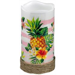 Deco Flair Pineapple Design LED Flameless Pillar Candle