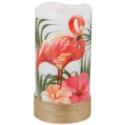 Deco Flair Flamingo Design LED Flameless Pillar Candle