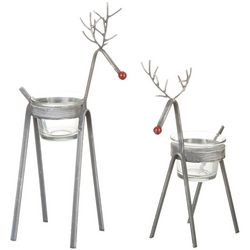 San Miguel 2-pc. Hillside Reindeer Tea Light Holder