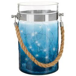Elements Crackle LED String Light Glass Lantern