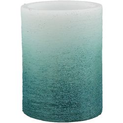 Coastal Home 3'x4 Blue Glitter LED Piller Candle