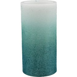 Coastal Home 3x6 Blue Glitter LED Pillar Candle