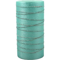 Coastal Home 3x6 Blue Glitter Swirl LED Candle