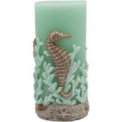 Coastal Home 3x6 Seahorse Coral LED Candle