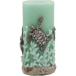 Coastal Home 3x6 Turtle LED Pillar Candle