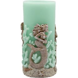 Coastal Home 3x6 Mermaid LED Pillar Candle