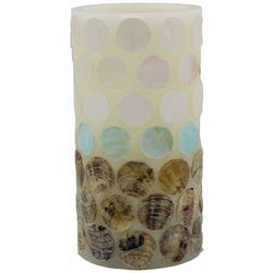 Coastal Home 3x6 Capiz Shell Dots LED Candle