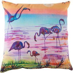 Ellen Negley Flamingling Decorative Outdoor Pillow