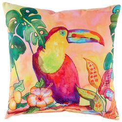 Ellen Negley Tropical Toucan Outdoor Decorative Pillow