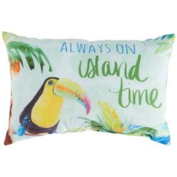 Manual Woodworkers Island Time Toucan Outdoor Pillow