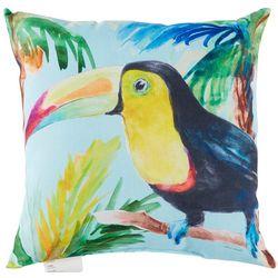 Manual Woodworkers Blue Sky Toucan Outdoor Decorative Pillow