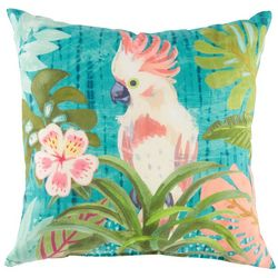 Manual Woodworkers Belize Cockatoo Outdoor Decorative Pillow