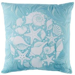 Manual Woodworkers Sea Shells Outdoor Decorative Pillow