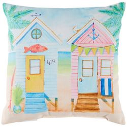 Tropix Beach Houses Decorative Outdoor Pillow