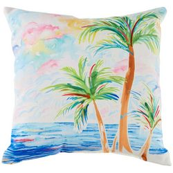 Tropix Palms Decorative Outdoor Pillow