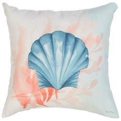 Manual Woodworkers Sea Shell Splash Outdoor Pillow