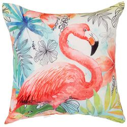 Manual Woodworkers Flamingo Flair Outdoor Pillow