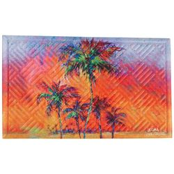 Leoma Lovegrove Parade of Palms Outdoor Mat