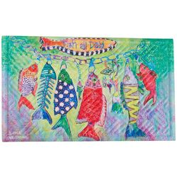 Leoma Lovegrove Fish All Day Outdoor Mat