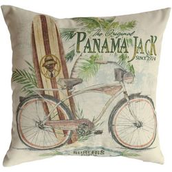 Panama Jack Beach Comber Throw Pillow