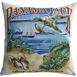 Panama Jack Jack of All Travels Decorative Pillow