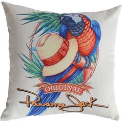 Panama Jack Panama Parrot Tropical Throw Pillow