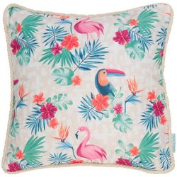 Coastal Home Jungle Fever Outdoor Decorative Pillow