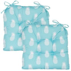 Coastal Home 2-pc. Arta Pineapple Chair Pad Set