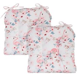 Coastal Home 2-pc. Flamingo Garden Chair Pad Set