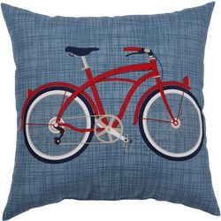 Brentwood Red Bicycle Outdoor Pillow