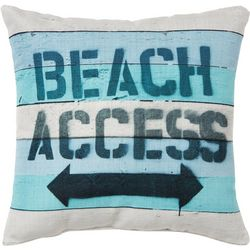 Brentwood Beach Access Outdoor Decorative Pillow