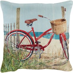 Brentwood Red Bike Outdoor Decorative Pillow