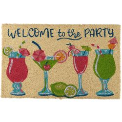 Tropix Tropical Drinks Coir Door Mat