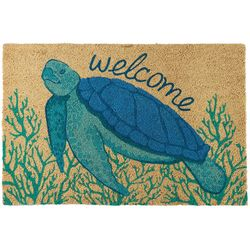 Coastal Home Turtle Welcome Coir Door Mat