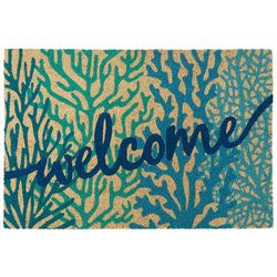 Coastal Home Coral Welcome Coir Door Mat