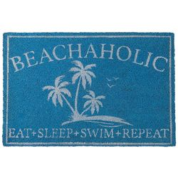 Coastal Home Beachaholic Coir Door Mat