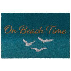 Coastal Home On Beach Time Coir Door Mat