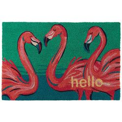 Tackle & Tides Flamingo Trio Coir Door Mat