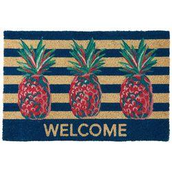 Tackle & Tides Pineapple Stripe Coir Door Mat