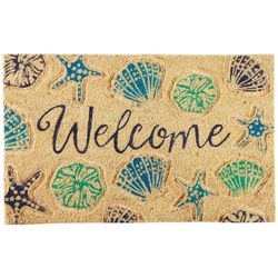 Tropix Welcome Shells Coir Mat