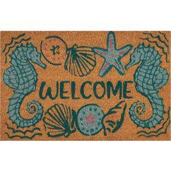 Tropix Seahorse Welcome Coir Outdoor Mat
