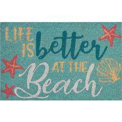 Tropix Life Is Better At The Beach Coir Outdoor Mat