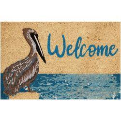 Tropix Pelican Welcome Coir Outdoor Mat
