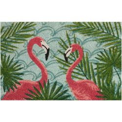 Tropix Double Flamingo Coir Outdoor Mat