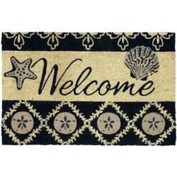 Tropix Welcome Shells Coir Outdoor Mat