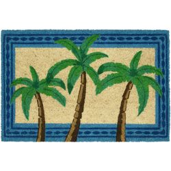 Tropix Palm Trees Coir Outdoor Mat