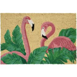 Tropix Flamingo Palms Coir Outdoor Mat