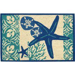 Tropix Blue Starfish Coir Outdoor Mat
