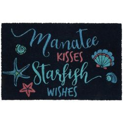 Tropix Manatee Kisses Coir Outdoor Mat