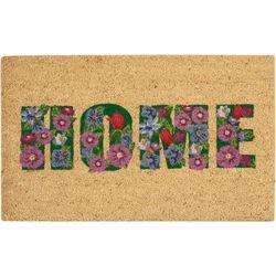 Casabella Floral Home Coir Outdoor Mat